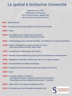 Journée spatiale à Sorbonne Université le 2 juillet 2018
