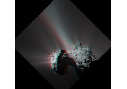 """""""Rosetta"""" la comète 67P/Churyumov-Gerasimenko en 3D"""